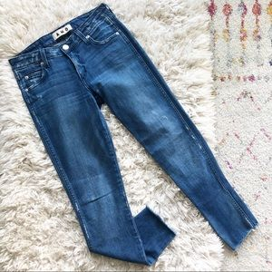AMO Blue Stix Crop Pacific Wash Skinny Jeans 25
